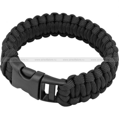 Браслет из паракорда (Tactical PRO) (Black)